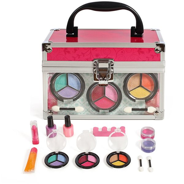 Girls Cosmetic Makeup Set In A Sturdy And Long Lasting Clear Case