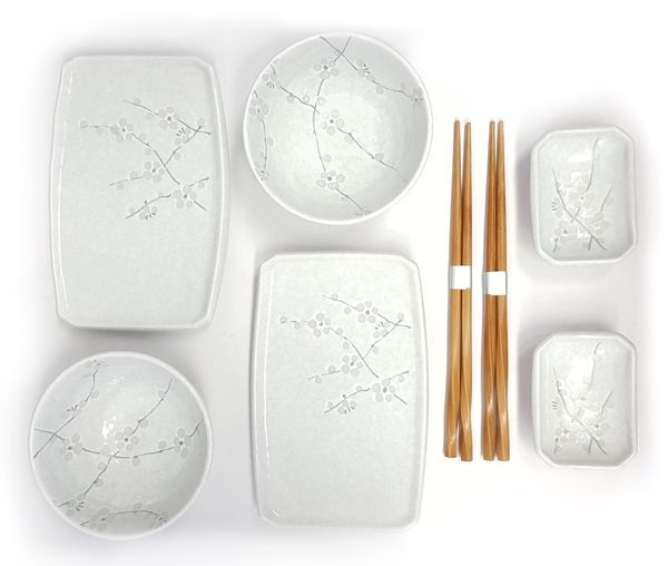 Happy Sales 8 Piece Japanese Cherry Blossom Dinnerware Set
