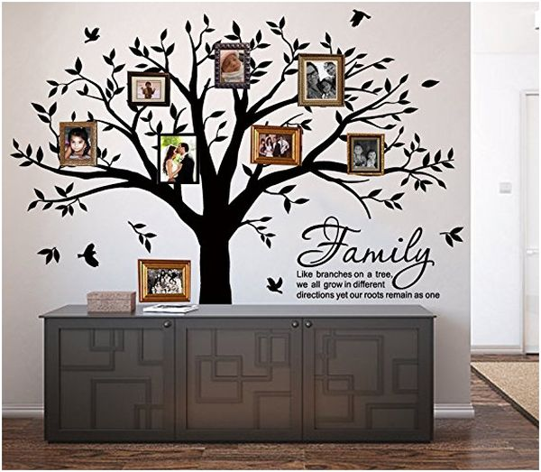 LUCKKYY Grant Family Tree Wall Decal with Branches