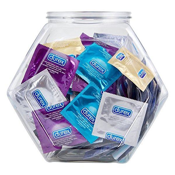 Large package of condoms a humorous gift for girlfriend