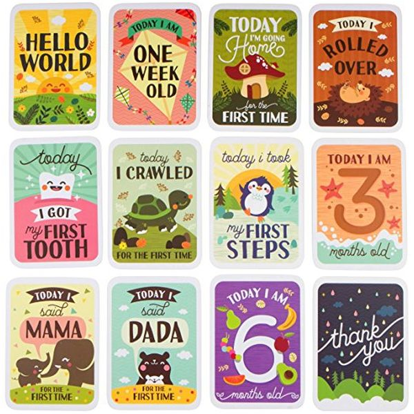 Mushy Moments Baby Milestone Photo Cards Gift Set