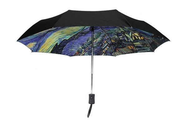 Outer Black Umbrella Van Gogh's Starry Night