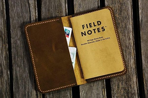 Personalized Leather Cover for Pocket Size Field Notes
