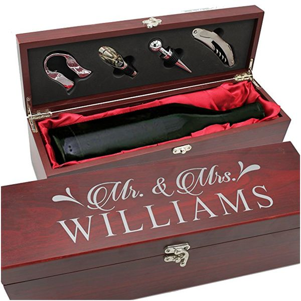 Personalized Wood Wine Box