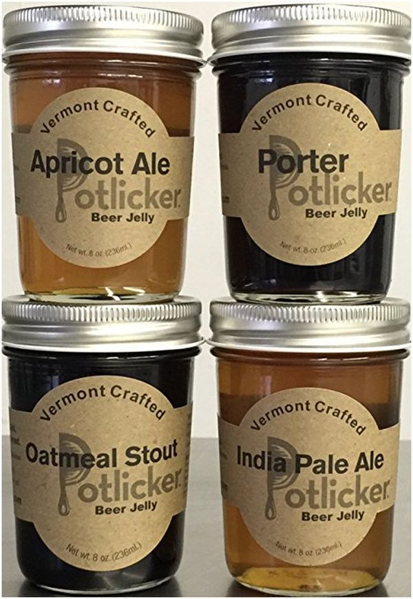 Set of 4 Jars of Craft Beer Jelly