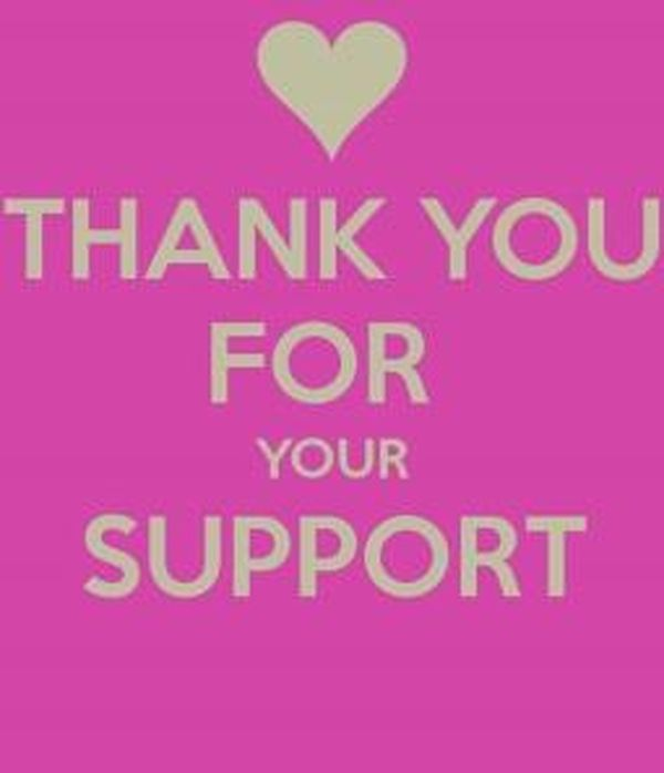 Amazing Sincere Thank You for Your Support Images