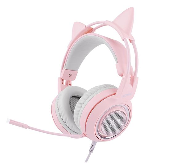 The SOMIC Pink Gaming Headset