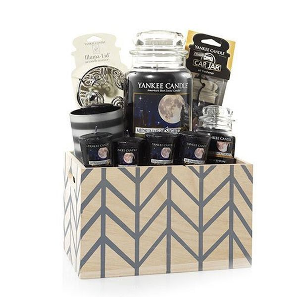 Yankee Candle Crate Chevron Basket Gift Set