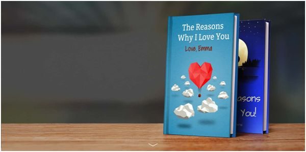 Сustomized reasons why i love you book for boyfriend or girlfriend