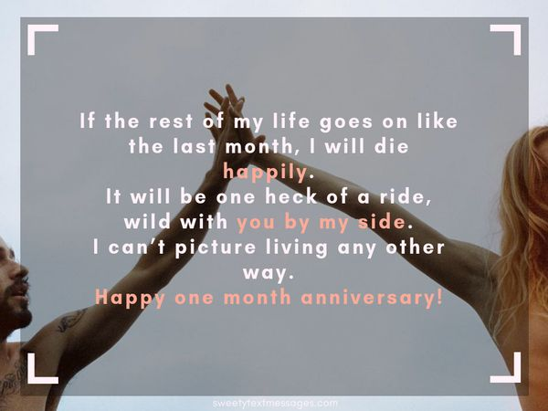 Examples of a Paragraph about 1 Month Anniversary for Her