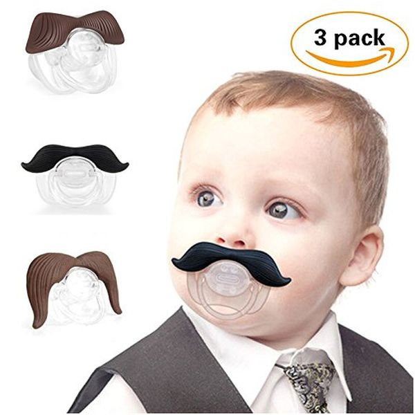 3Pcs Cute Gentleman Mustache Pacifier for Baby