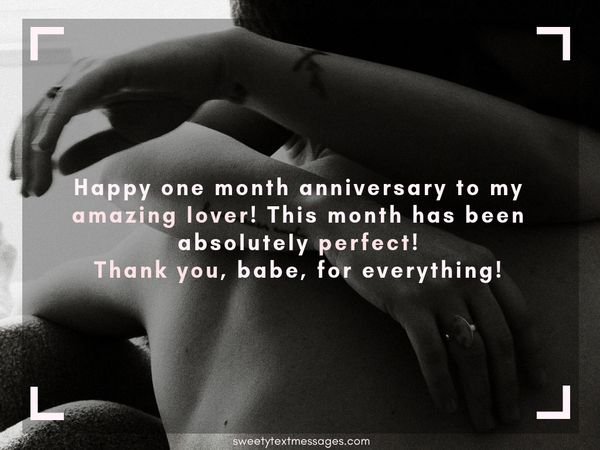 One Month Anniversary Paragraph And Letters For Him And Her