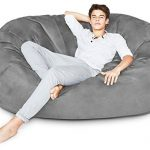 Lumaland Luxury 6-Foot Bean Bag Chair