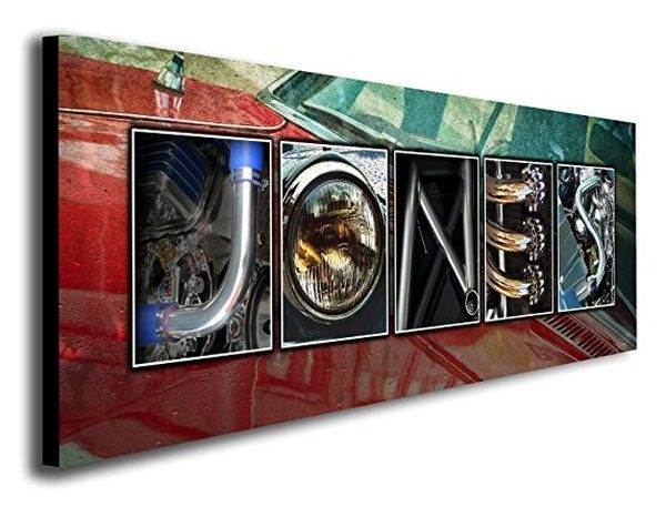 Personalized Automobile Themed Name Art