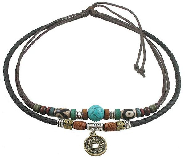 Ancient Tribe Genuine Leather Necklace