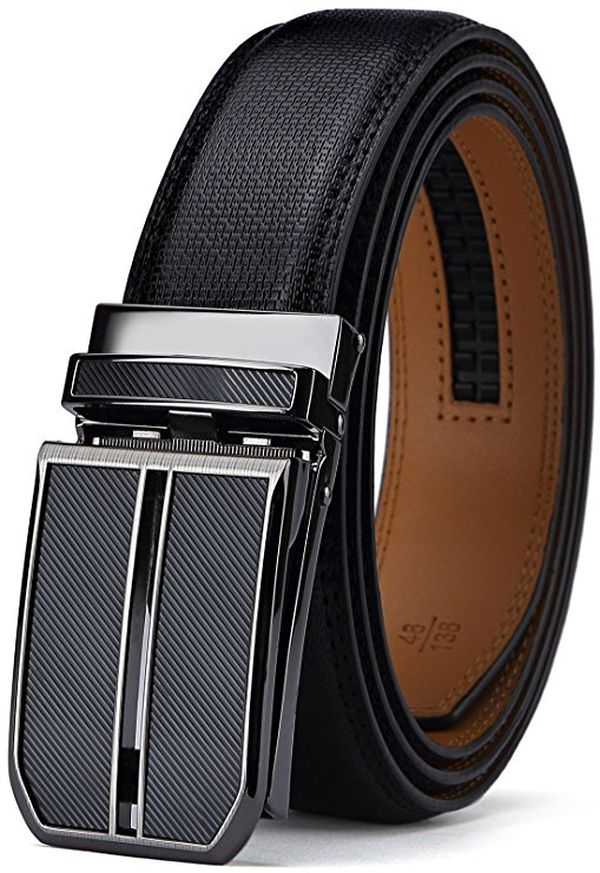 Bulliant Mens Click Ratchet Belt Of Genuine Leather