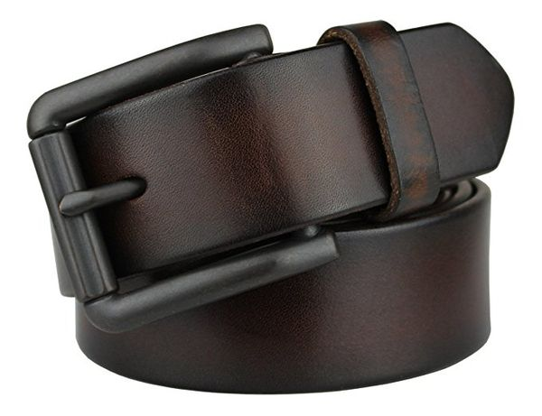 Bullko Mens Genuine Leather Belt