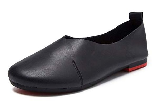 Kunsto Womens Genuine Leather Ballet Flat