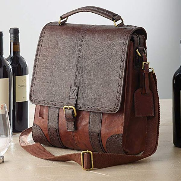 Leather BYO Wine Bag