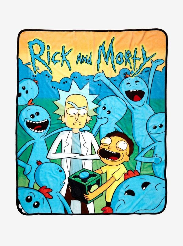 Rick and Morty blanket gift 2