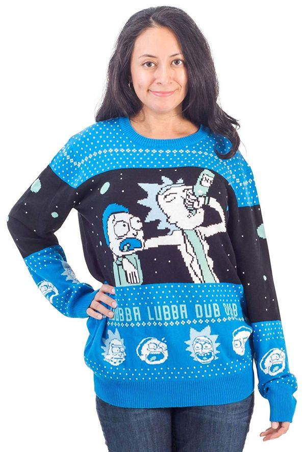 Rick and Morty sweater christmas gift 1