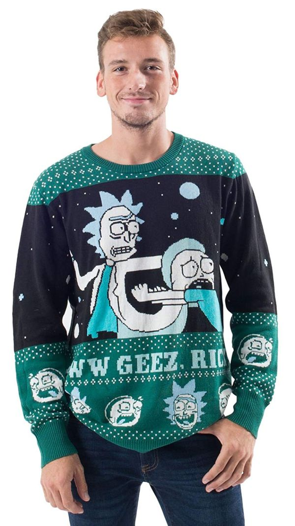 Rick and Morty sweater christmas gift 2