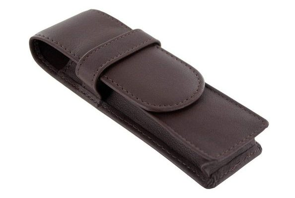 Royce Leather Double Pen Case Holder