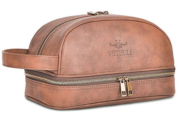 Vetelli Leather Toiletry Bag For Men