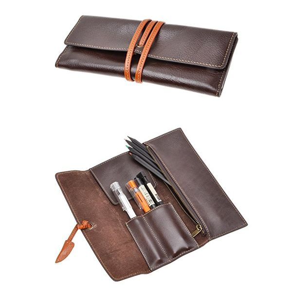 ZLYC Handmade Leather Pen Case