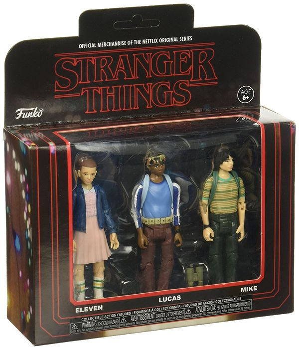 Funko Action Figure Stranger Things 3PKPack 1 Collectible
