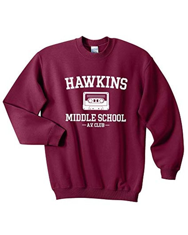 Mars NY Unisex Hawkins Middle School AV Club Sweatshirt