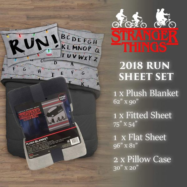 Stranger Things Limited Edition Plush Blanket and Bed Sheets Set