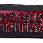Stranger Things Logo 4 Inch Wide Embroidered Iron on Patch