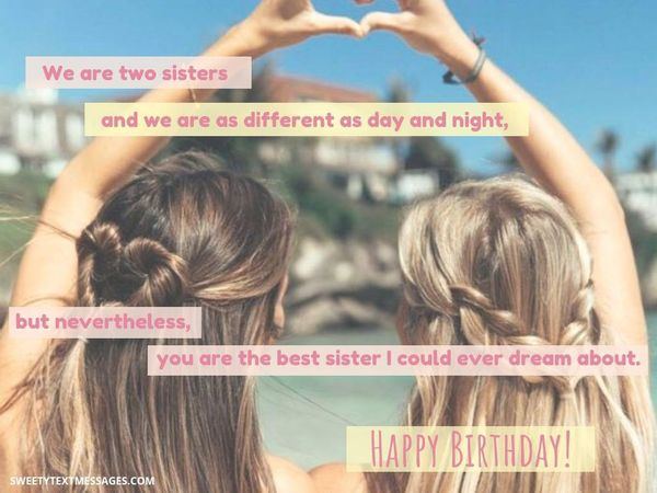 Happy birthday to the best sister wishes