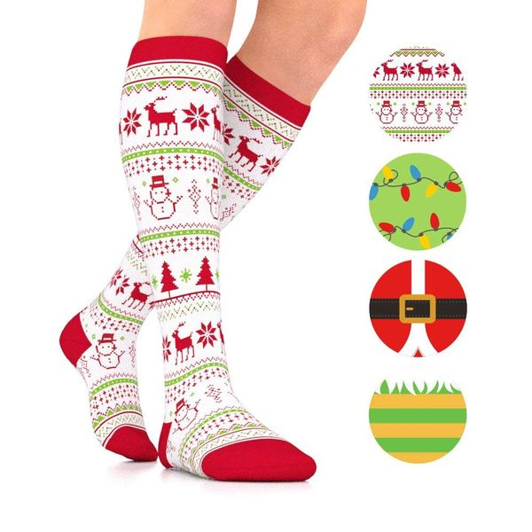 Christmas compression socks